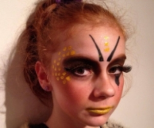 Modelling one of Dani's make-up designs