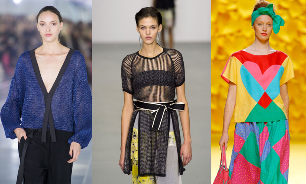 Blues, mesh and geometric prints are all forecasted trends for next season.