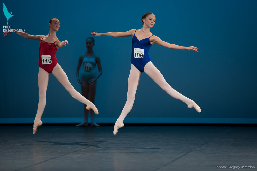 Right: Makensie Henson at the 2016 Prix de Lausanne
