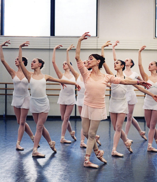 Balanchine's School of American Ballet dancers - note the 'claw' hands