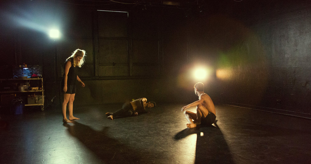 Sarah Boulter (Left) during the rehearsal process with the Dream Dance Company in Sydney