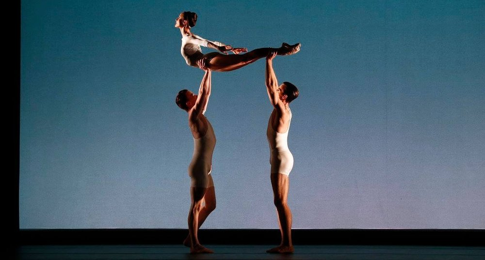 Jarryd Madden, Amber Scott and Richard House in David Bintley's Faster. Photography Jeff Busby