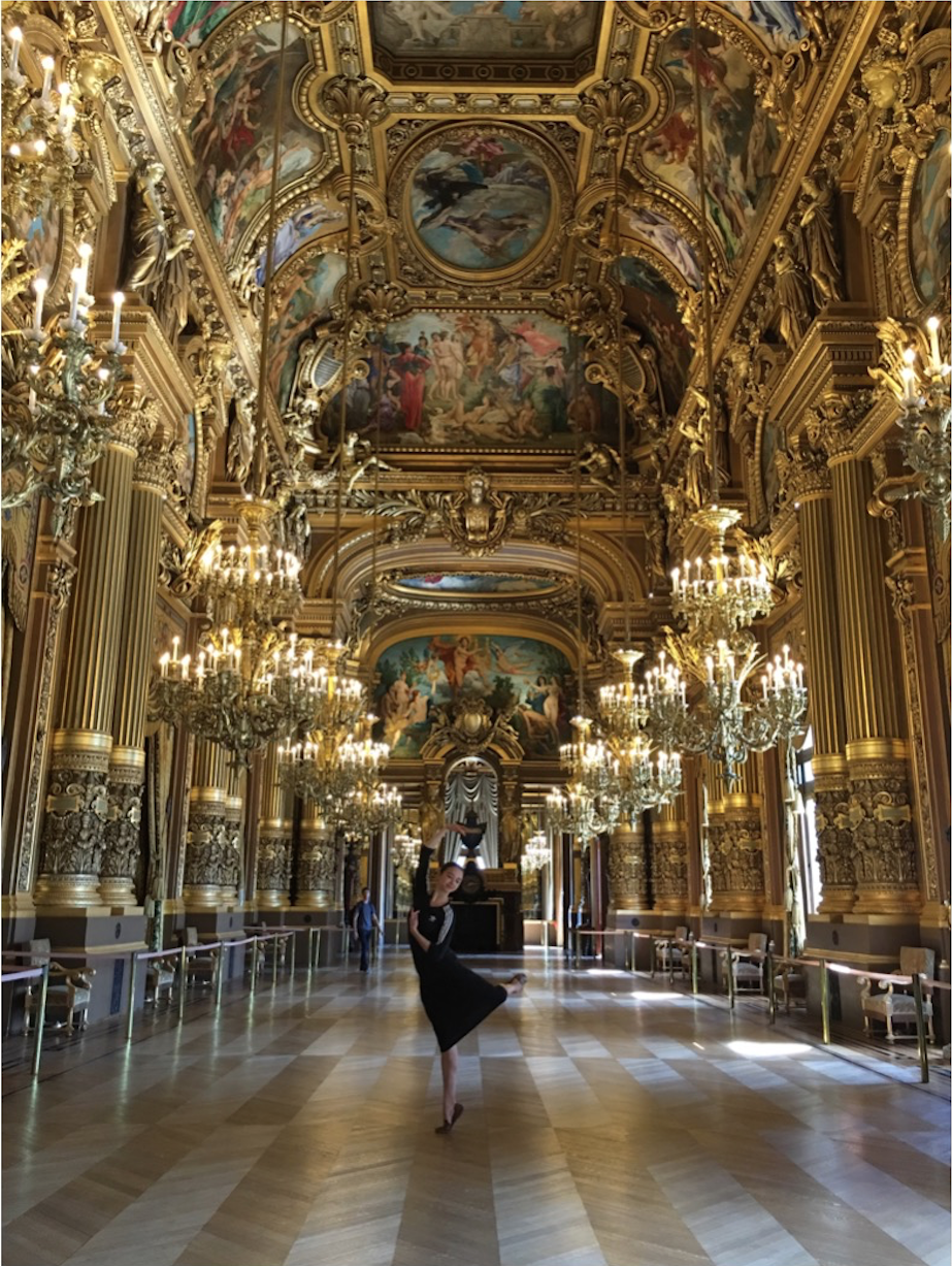 In the Garnier Opera House in Paris