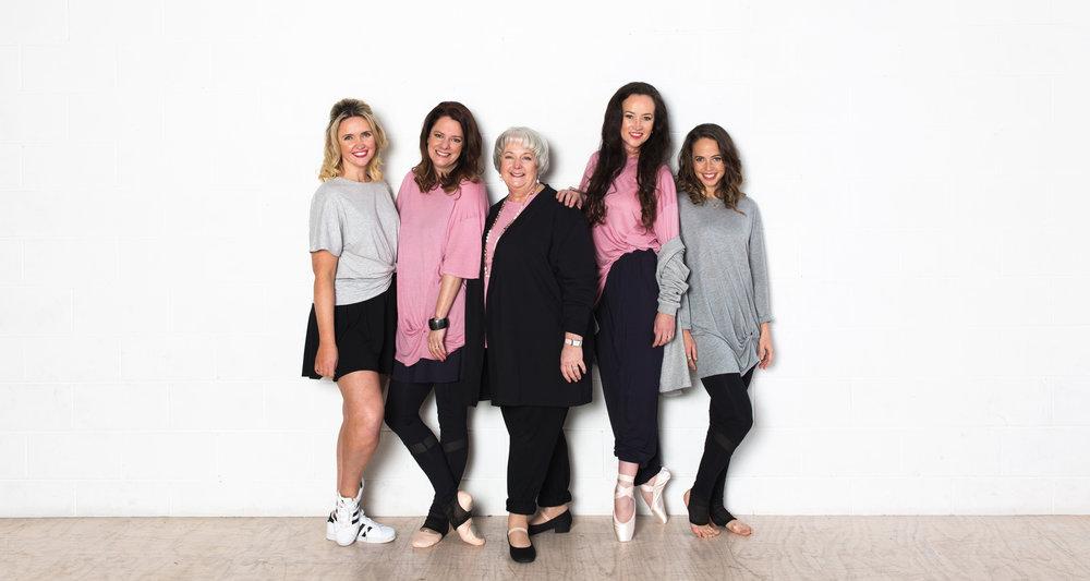 Left to right: Kate Meade, Melanie Gard, Karen Malek, Lucinda Dunn & Lucy Doherty