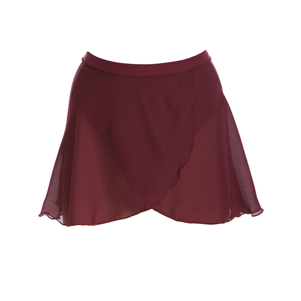 Wrap Skirt - Burgundy