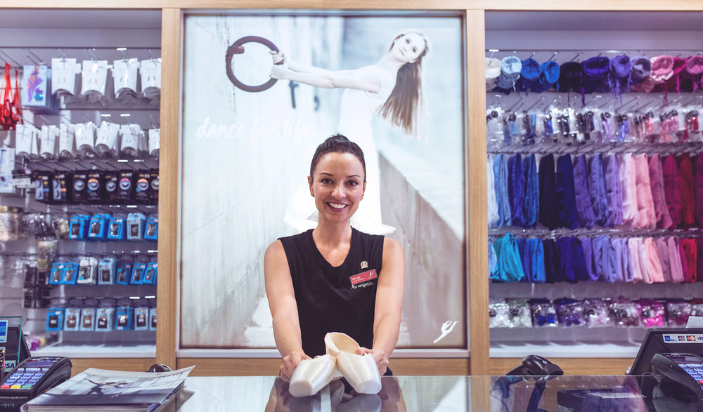 Energetiks Ivanhoe Store Manager and Professional Pointe Shoe Fitter Nicole Gilmartin