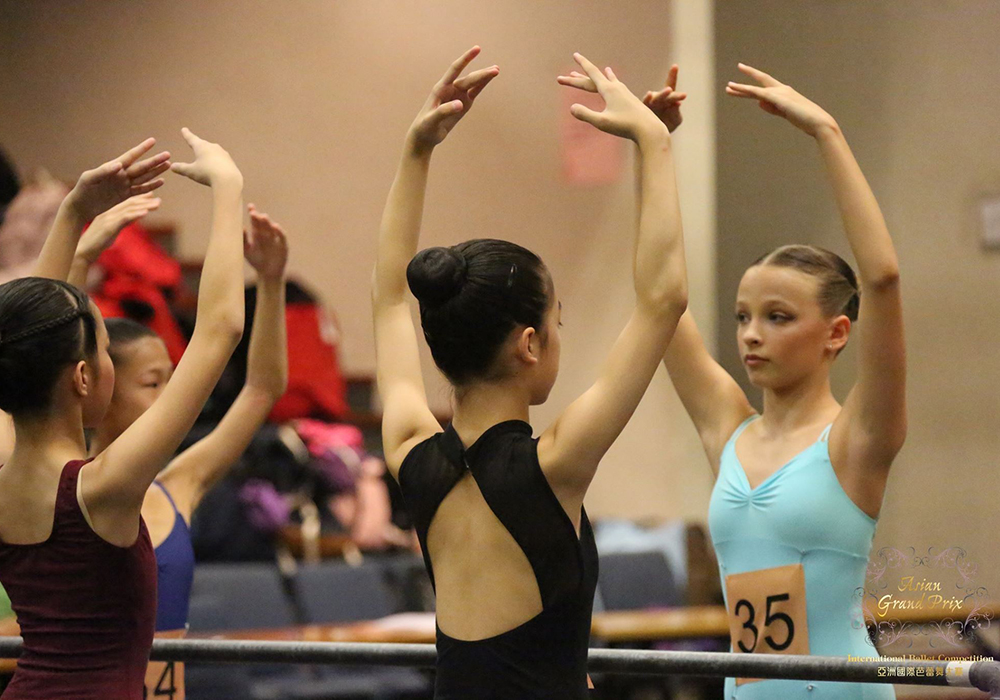 Dancers in class at the 2017 competition