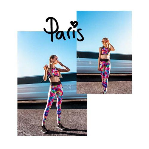 Paris wears the  Serena Crop  and  Billie Legging