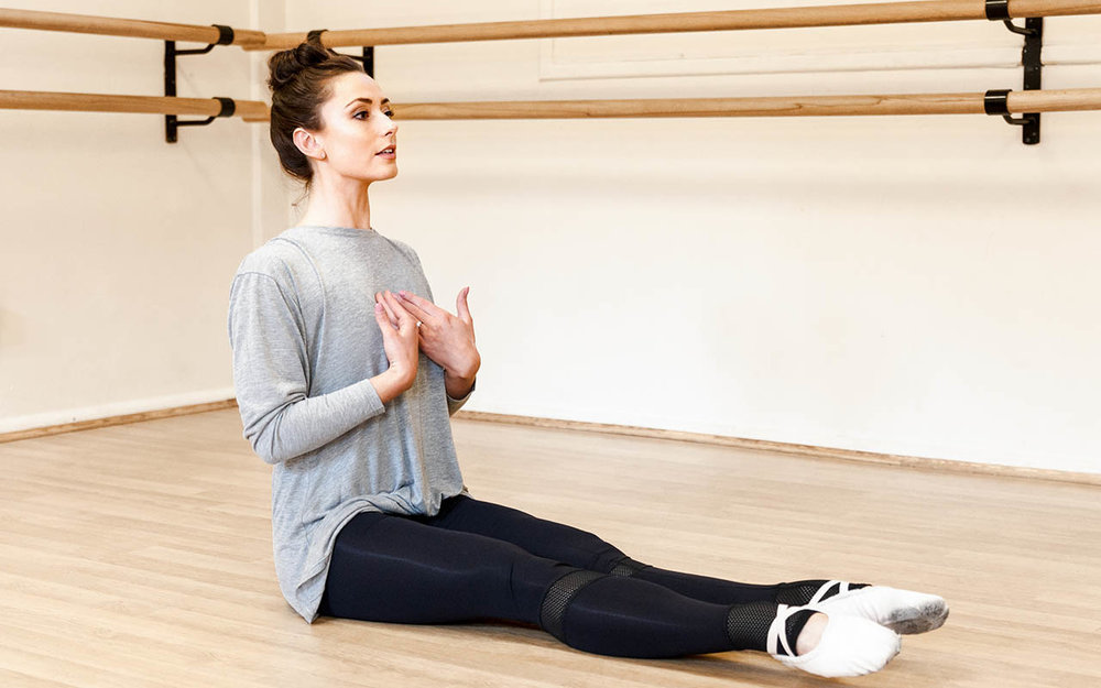 Student Teacher Daisy Oldland from the  Jayne A Coleman Academy of Dance  wears the  Atelier Collection