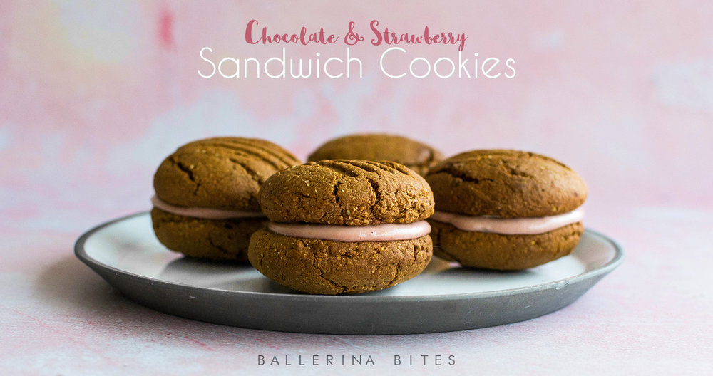 Ballerina Bites chocolate strawberry cookies Header.jpg