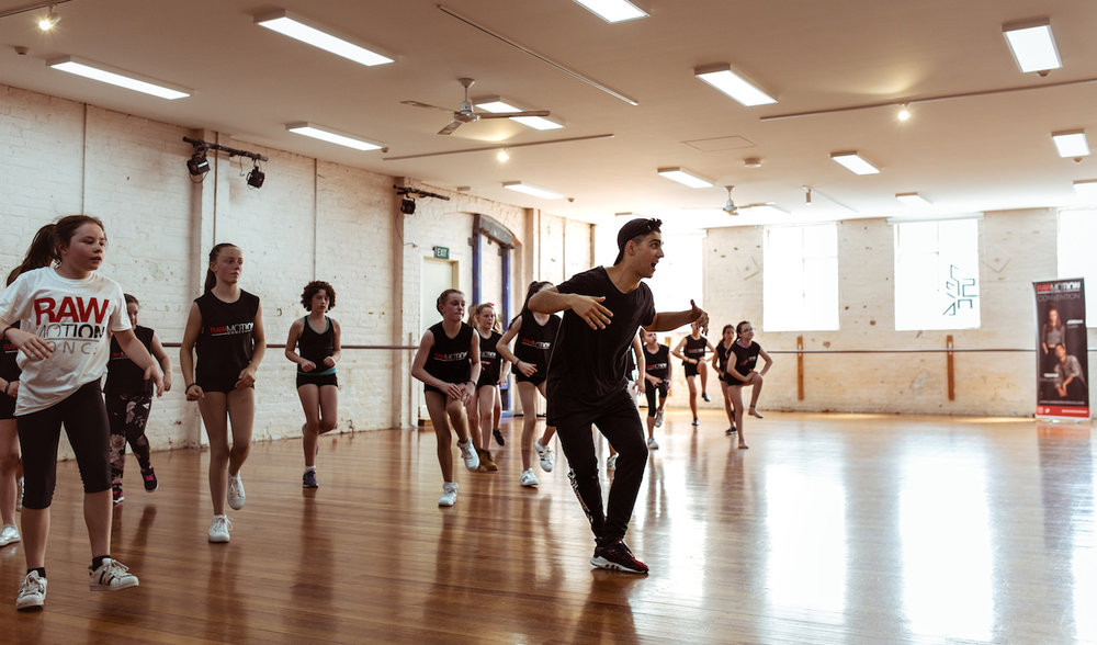 Trevor Tordjman taking class in Melbourne for the Raw Motion Tour