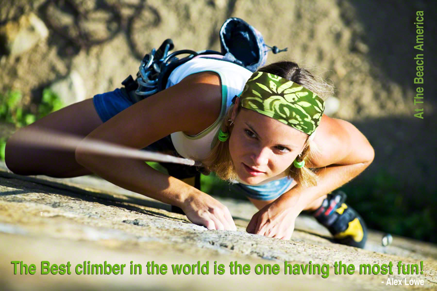 Rock Climbing girl with  Headbands
