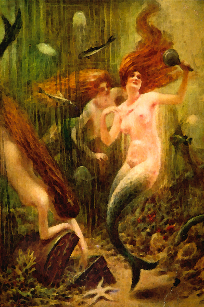 Mermaids discover pirate treasure.