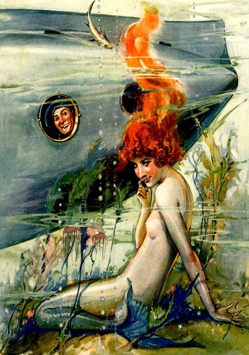 Mermaid and Submarian Man