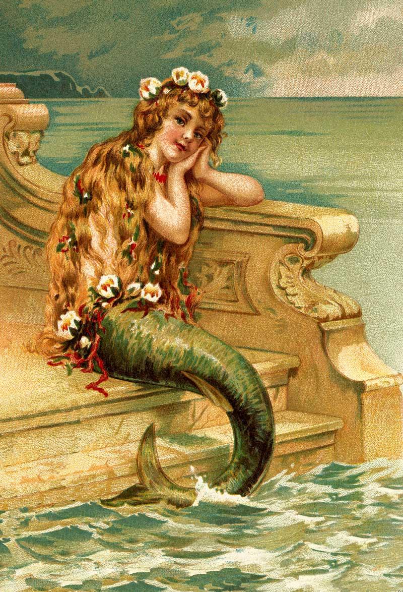 Mermaid on Ocean Steps