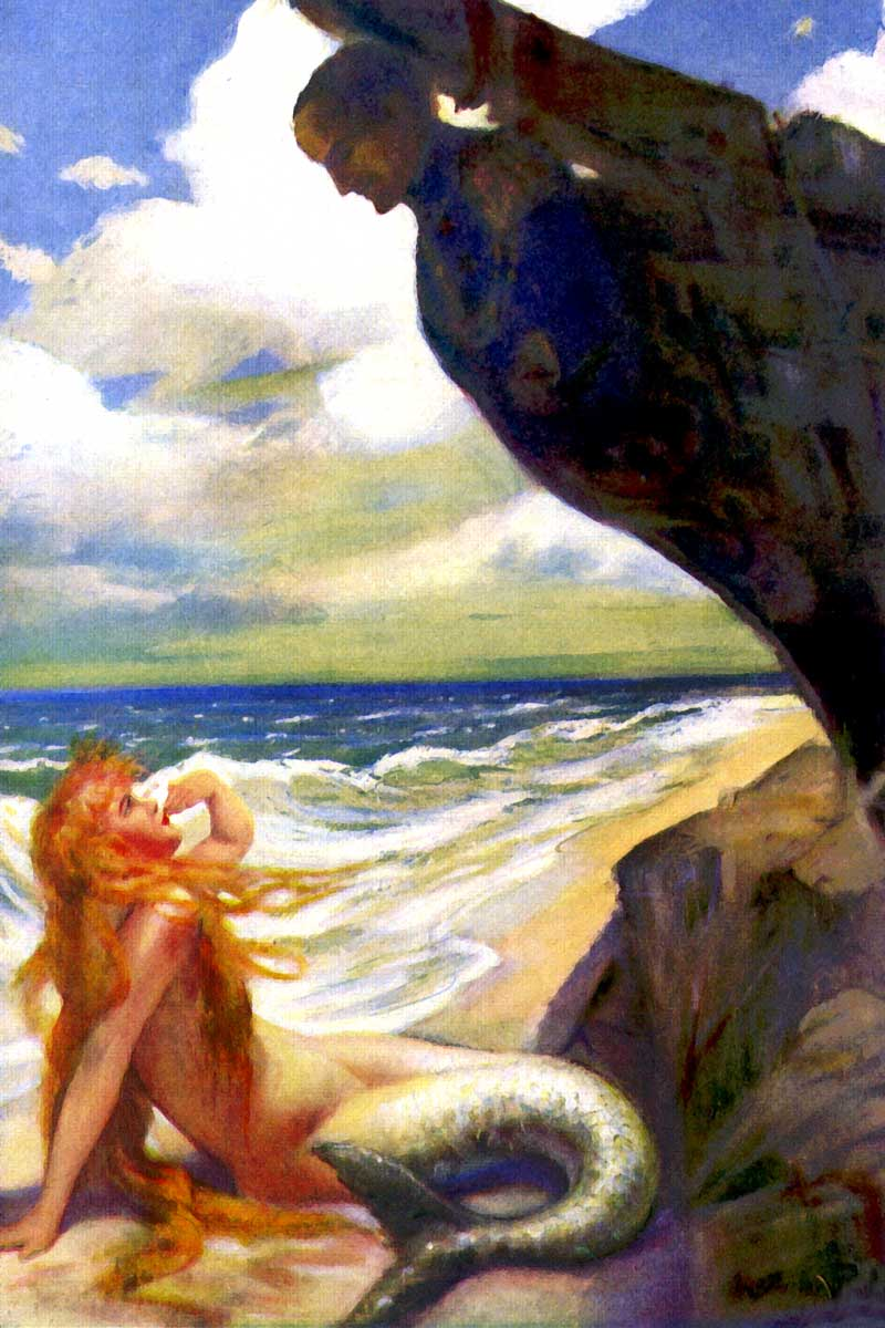 Mermaid on the Beach air kiss
