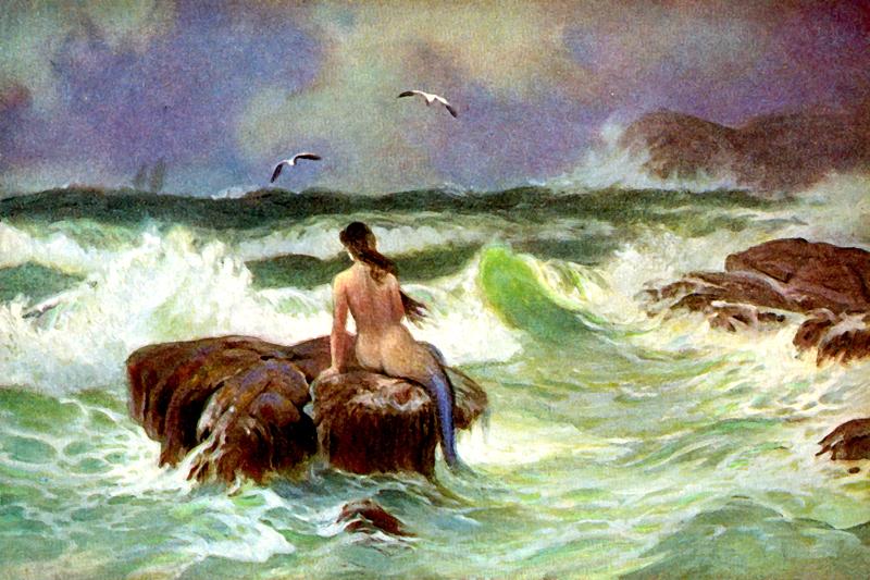 Mermaid on thr rock