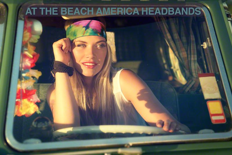 Beach Boho Tie Dye Headbands