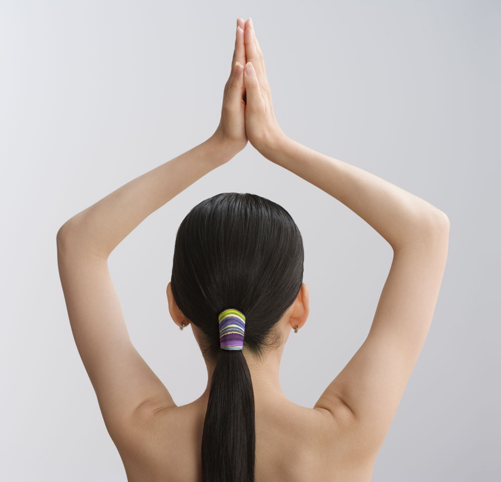 The Gentle Pony Ponytail Holder is perfect for Yoga as well! Keeps the hair elegantly in place, plus it will not damage the hair so you keep that long hair you love!