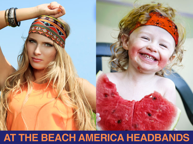 All At The Beach America Headbands are made in the USA!