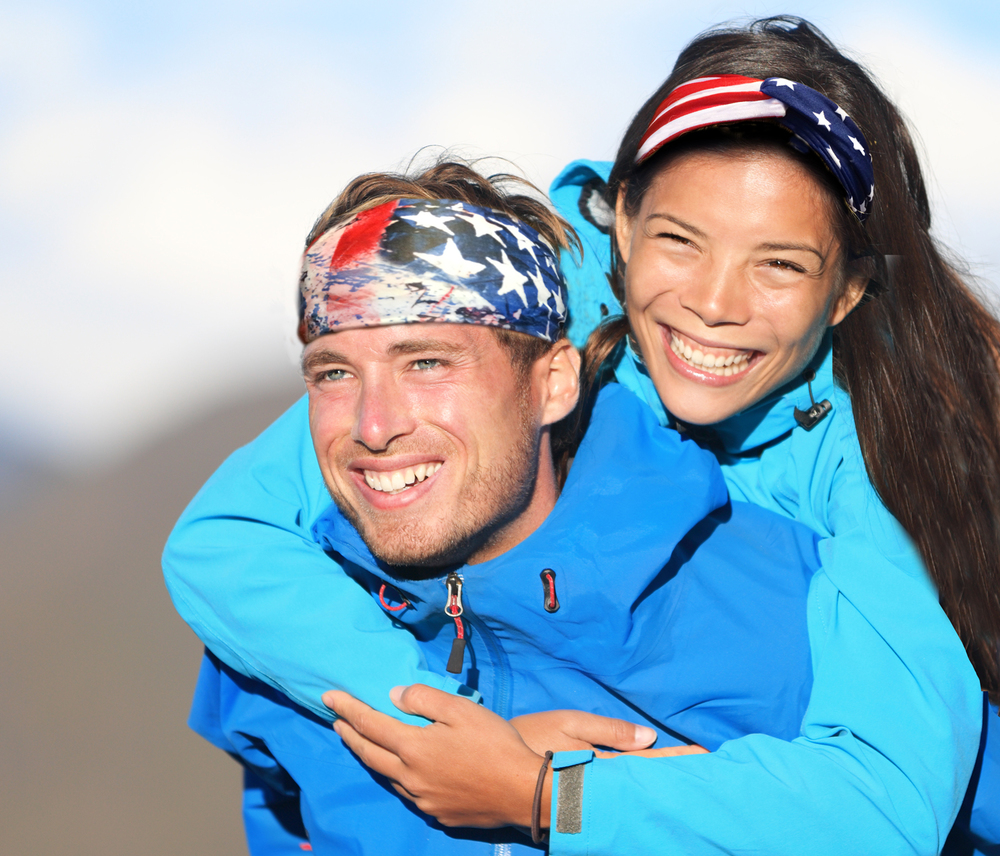 American Flag Headbands Unisex