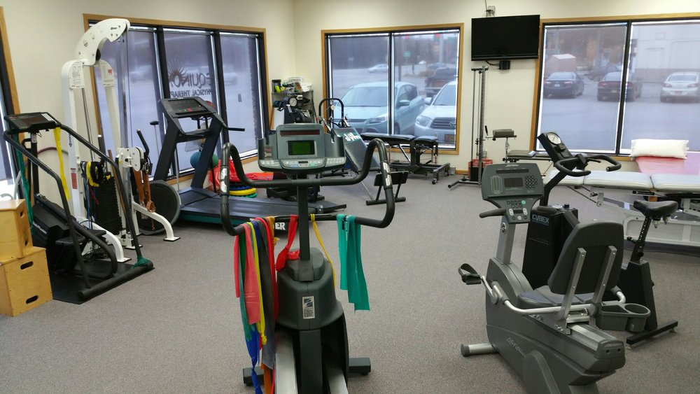This is our big open gym with plenty of space for exercise and functional activities