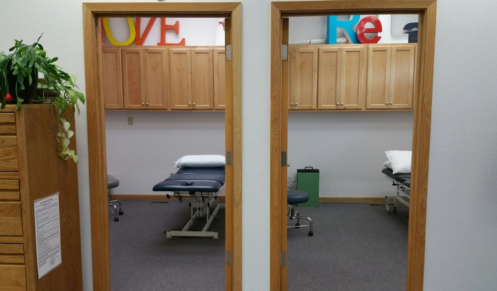 Two of our four individual treatment rooms