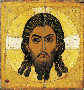 Unknown icon painter 12th century   Saviour, Not Made By Human Hands       Second half of the 12th century  Tempera on wood 77 х 71 at 10, Lavrushinsky Lane, Hall 56