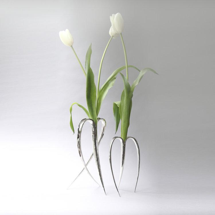 Silver Flower Vases Les Ateliers Courbet