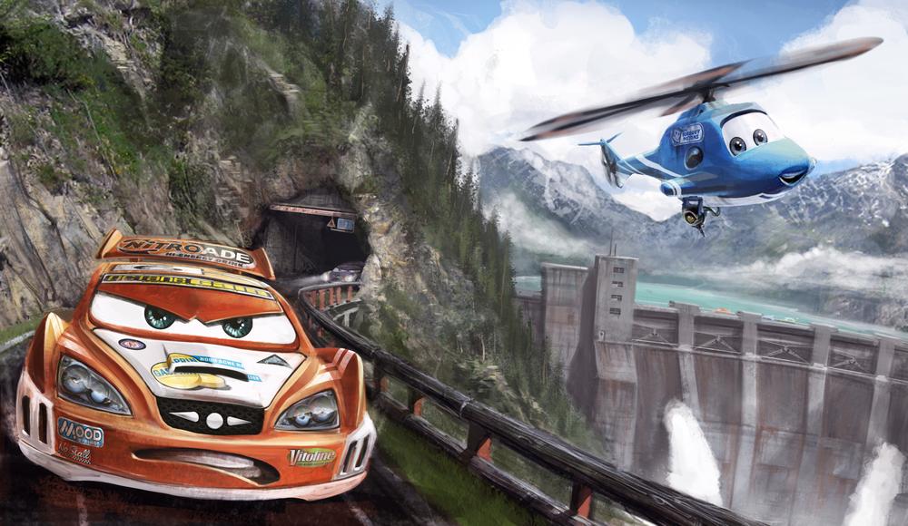 Cars Race O Rama Kevin Duc Concept Design