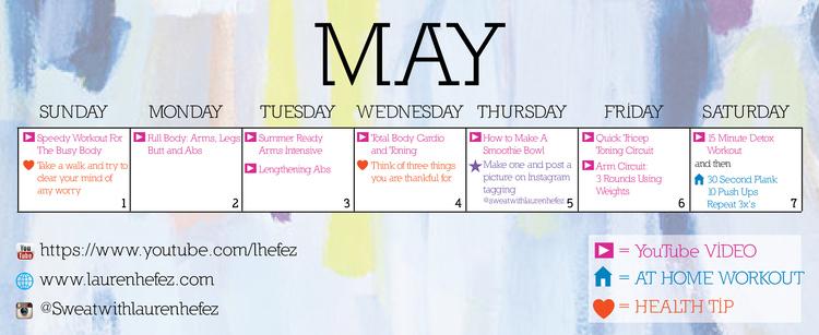 May Week 1 workout Plan — Lauren Hefez