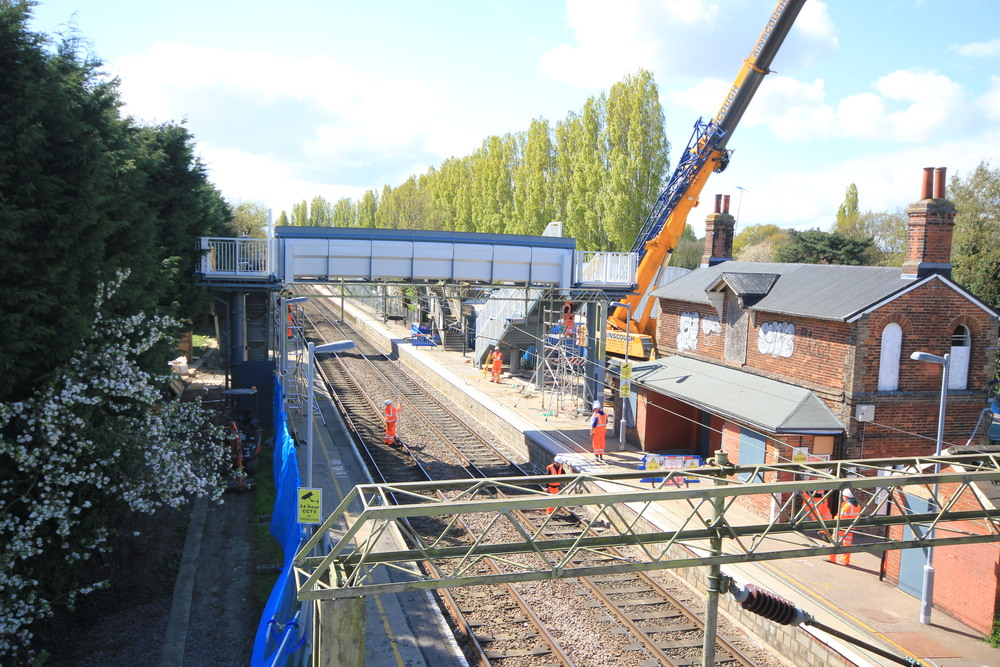 Weeley Station Footbridge: Platform Renewals & Footbridge