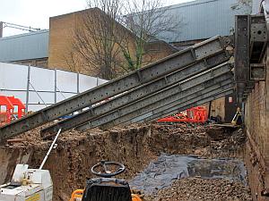 Seven Sisters Station Raking Shores to Retaining Wall