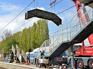 weeley station exmouth footbridge removal