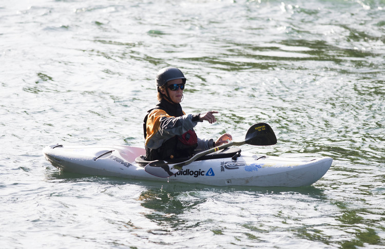 Utilizing rescue kayakers for scouting runs and (if necessary) additional rescue swimmer support is a constant aspect of our comprehensive safety system.