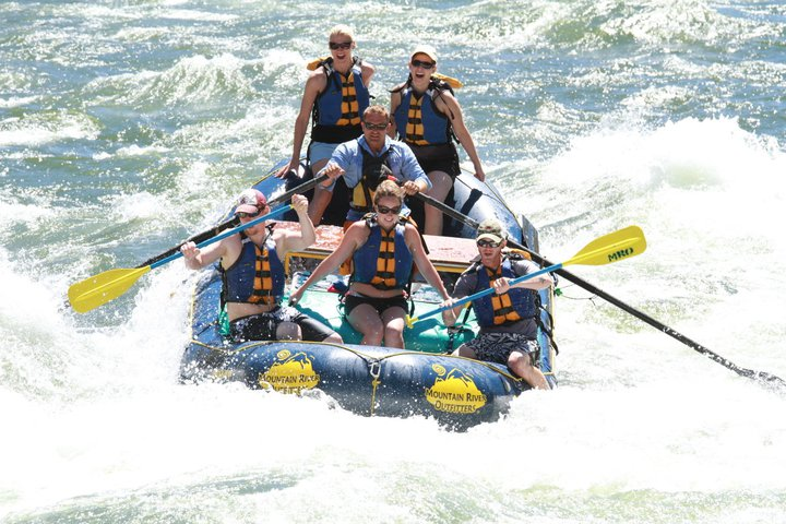 whitewater rafting in Idaho