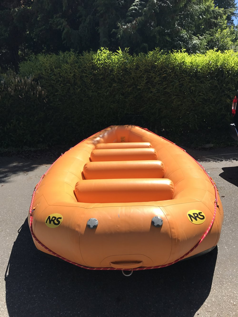 The prototype NRS E-151 whitewater raft. Source: Triad River Tours guide iPhone