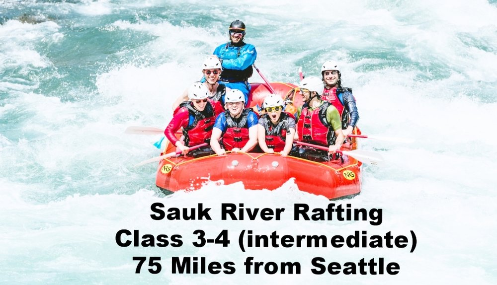 Sauk River whitewater rafting near seattle