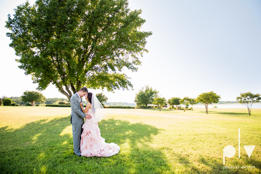 Wedding Summer Paradise Cove Texas DFW pink dress navy outside first look Sarah Whittaker Photo La Vie-19.JPG