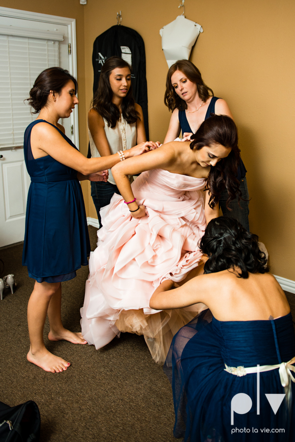 Wedding Summer Paradise Cove Texas DFW pink dress navy outside first look Sarah Whittaker Photo La Vie-6.JPG