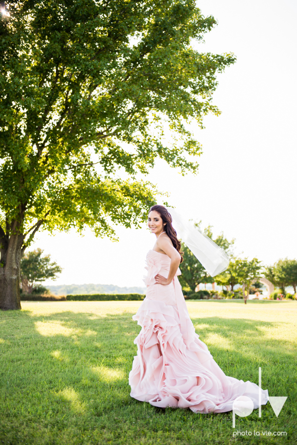 Wedding Summer Paradise Cove Texas DFW pink dress navy outside first look Sarah Whittaker Photo La Vie-12.JPG