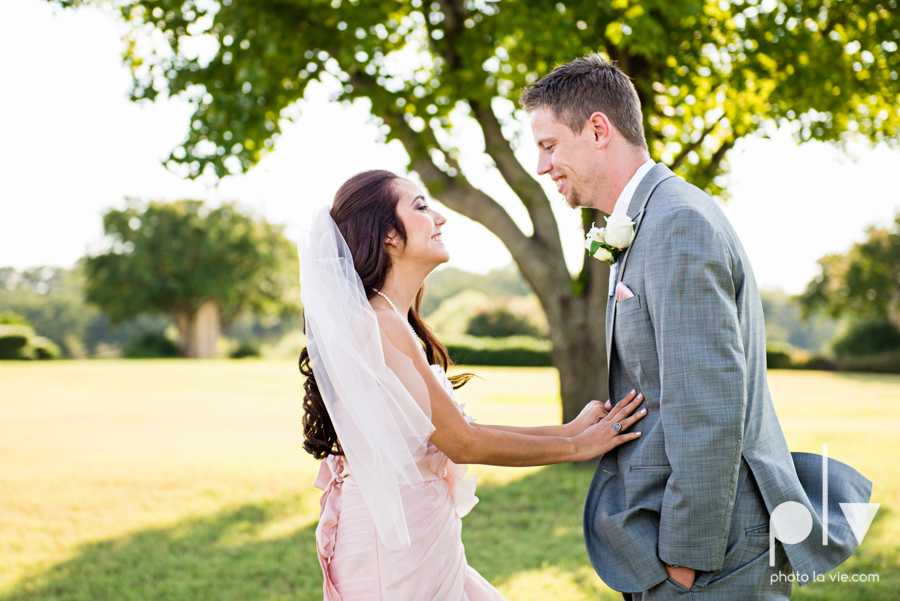 Wedding Summer Paradise Cove Texas DFW pink dress navy outside first look Sarah Whittaker Photo La Vie-18.JPG