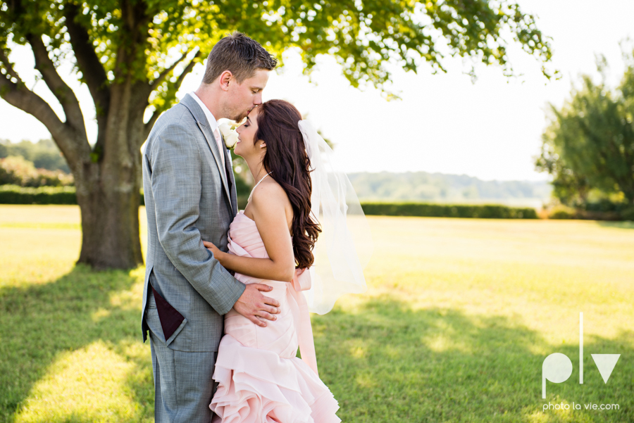 Wedding Summer Paradise Cove Texas DFW pink dress navy outside first look Sarah Whittaker Photo La Vie-20.JPG