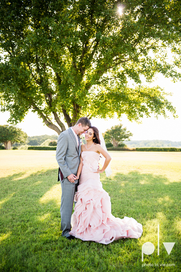 Wedding Summer Paradise Cove Texas DFW pink dress navy outside first look Sarah Whittaker Photo La Vie-21.JPG
