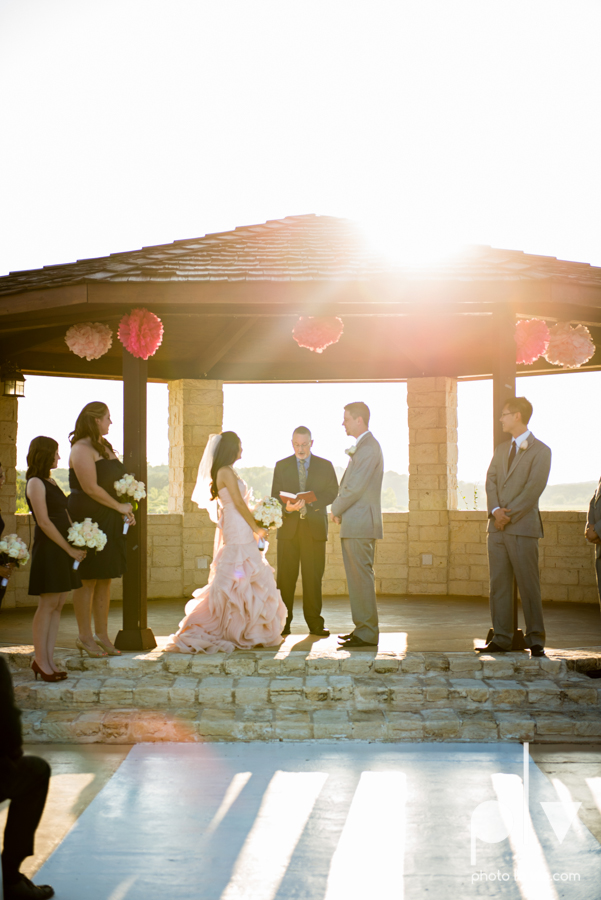 Wedding Summer Paradise Cove Texas DFW pink dress navy outside first look Sarah Whittaker Photo La Vie-30.JPG