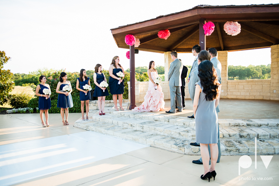 Wedding Summer Paradise Cove Texas DFW pink dress navy outside first look Sarah Whittaker Photo La Vie-31.JPG