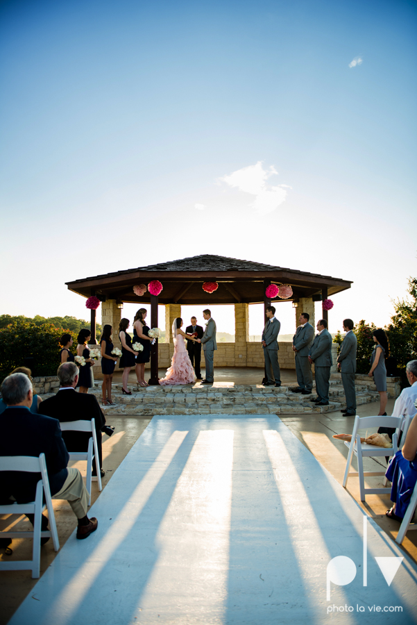 Wedding Summer Paradise Cove Texas DFW pink dress navy outside first look Sarah Whittaker Photo La Vie-34.JPG