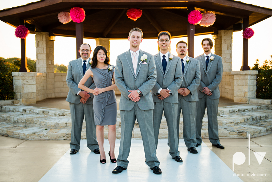Wedding Summer Paradise Cove Texas DFW pink dress navy outside first look Sarah Whittaker Photo La Vie-37.JPG