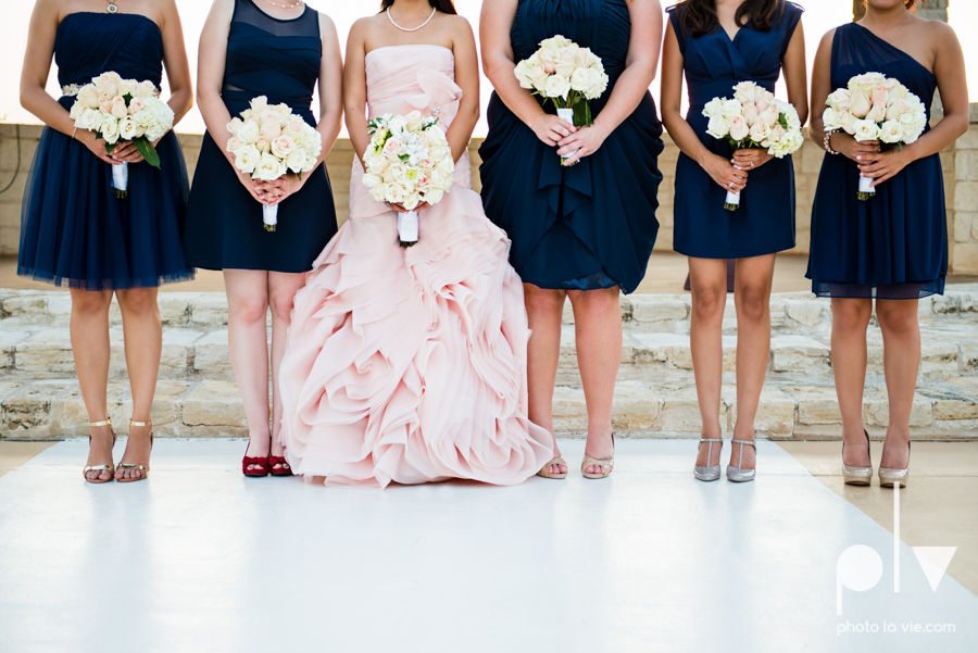 Wedding Summer Paradise Cove Texas DFW pink dress navy outside first look Sarah Whittaker Photo La Vie-39.JPG