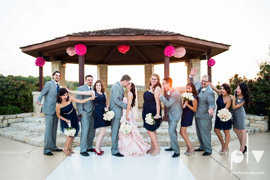 Wedding Summer Paradise Cove Texas DFW pink dress navy outside first look Sarah Whittaker Photo La Vie-40.JPG
